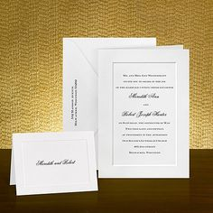 classic and simple #wedding #invitations