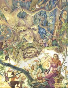 Soloillustratori: Gary A. Fantasy Forest, Fantasy Art, Fantasy Trees, Mystical Pictures, Cicely Mary Barker, My Fantasy World, Elves And Fairies, Unusual Art, Flower Fairies