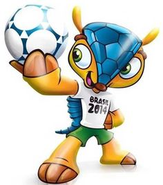 Este armadillo es la mascota para el Mundial Brasil 2014
