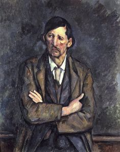 Man with Crossed Arms, ca 1899. Paul Cezanne (1839-1906). Collection of Ronald Lauder, Neue Gallerie.