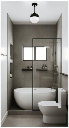 Bathtub Shower Combo, Bathroom Tub Shower, Bathroom Renos, Bathroom Ideas, Small Bathroom Showers, Remodel Bathroom, Budget Bathroom, Bathroom Remodeling, Tub And Shower