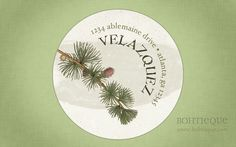 Personalized Return Address Label Sticker  Pine Bough by Bohtieque, $6.25