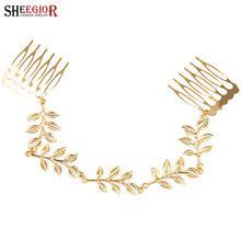 Joyería del pelo dorado moda novia pelo de la boda accesorios para la mujer  de la d0f696fea3ea