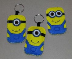 Felt minion keyrings