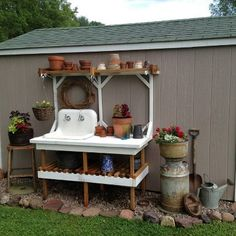 "I built this stand for my Mother for Mother's Day with scrap lumber that I am always saving for ""something"". Mom had the old cast iron farm sink that she was saving for ""something"". It turned into something really special!"