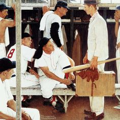 Marmont Hill The Rookie 302 Norman Rockwell Painting Print on Canvas