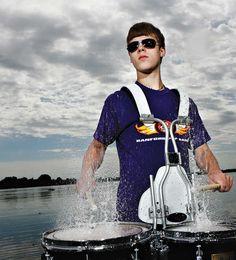 Drum senior pictures. Senior picture ideas for drummers. #drumseniorpictures #musicseniorpictureideas