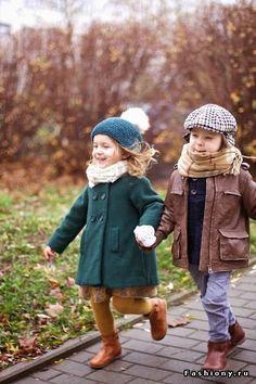 Теплые образы маленьких модников...