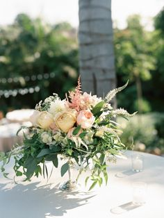 A Beautifully Floral California Wedding from Ashley Kelemen Photography - wedding centerpiece idea