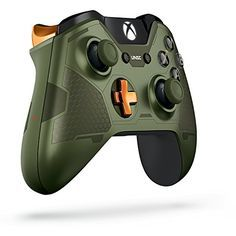 Xbox One Limited Edition Halo 5: Guardians Master Chief Wireless Controller Xbox One Limited Edition Halo 5: Guardians Master Chief Wireless Controller Own the Limited Edition Halo 5: Guardians - The Master Chief controller featuring the signature green and metallic orange accents of the Master Chief's armor laser-etched designs and a bonus REQ Pack including the Dauntless visor. This extraordinary controller takes you deeper into the Halo Universe. Available at participating retai..