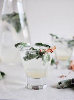 Honey Sage Gin Fizz.