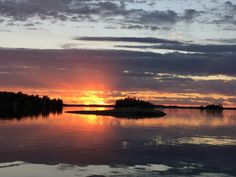 Sunset over Long Bay, Sioux Narrows, Ontario