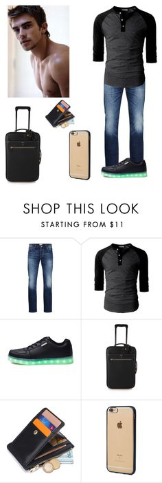 """""""I guess I'm leaving ~Lance"""" by supernatural-lovely-anons ❤ liked on Polyvore featuring Jack & Jones, Mark Cross, Incase, men's fashion and menswear"""
