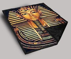 Egyptian King Pharaoh Throw Blanket