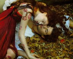 Photo by Annie Leibovitz     Coco Rocha as Juliet and ballet star cum fashion darling, Roberto Bolle as Romeo