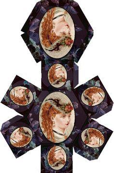 Miniature Printables - Lady in Hat Box - mis cajas para casitas - de wissel - Picasa Web Albums.