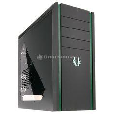 Das BitFenix Shinobi Midi-Tower mit USB 3.0 in schwarz/grün/grün mit Fenster - ein wahrer Hingucker!