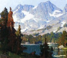 Mountain Lake Artwork by Edgar Alwyn Payne Hand-painted and Art Prints on canvas for sale,you can custom the size and frame