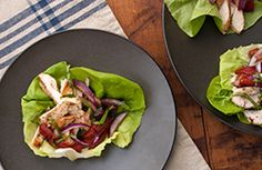 So-simple Italian Lettuce Wrap from our newsletter -- this works equally well with leftover chicken, steak or pork roast