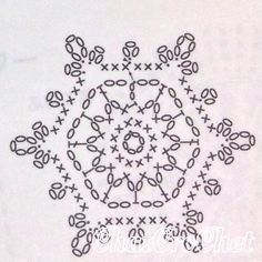 Crochet Wool, Crochet Motifs, Crochet Winter, Crochet Mandala, Crochet Diagram, Filet Crochet, Crochet Doilies, Crochet Flowers, Crochet Patterns