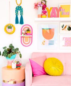 Learn how to make your own DIY rainbow wall shelf with this easy to assemble and paint craft kit. Modern craft kits for your home!...