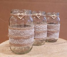 Check out this item in my Etsy shop https://www.etsy.com/uk/listing/589928193/12-rustic-wedding-jars-baby-shower