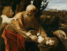 Caravaggio, El Sacrificio de Isac (Antiguo Testamento)