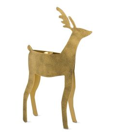 Look what I found on #zulily! Gold Reindeer Extra-Large Taper Holder #zulilyfinds