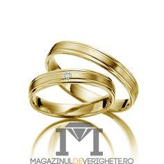 verighete din aur galben MDV1099 #verighete #verighete3mm #verigheteaur #verigheteaurgalben #magazinuldeverighete Aur, 50 Euro, Bangles, Bracelets, Jewelry, Fashion, Crystal, Diamond, Jewellery Making