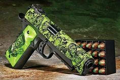 Green gun great for Zombie's // / Check out Charter Arms on Pinterest or visit our web-sight at  CharterFireArms.Com