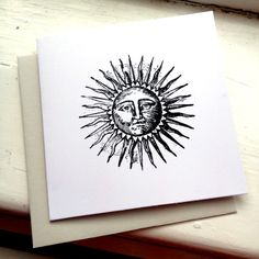 The Sun (etched style) Printed by Rebecca at Do You Punctuate. £3.00