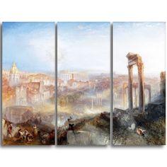 Design Art 'jmw Turner - Modern Rome' Art Print