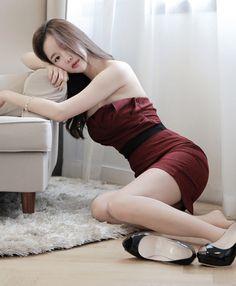 [Luxe Asian Women Dresses Fashion Style Forever 21 Korean Fashion Clothing Women Online Shopping Mall] Gloria Wine Dress