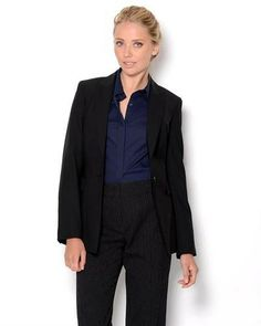 Title: Escada Wool Blend Suit Jacket  Brand Name: Escada  Item Type: Apparel  Item: Suit Jacket  Made In: Imported  Gender: Women  Condition: Brand New  Material: Jacket: 75% Virgin Wool 23% Polyamide 2% Elastane, Lining: 85% Cupro 15% Elastane  Neck Type: Collared  Sleeves: Long sleeves  Care Instructions: Dry clean  Fit: Classic Fit  Single breasted Wool Visible stitching Padded shoulders Notched lapel Buttoned cuffs Front flap pockets Lined Soft, comfortable fit
