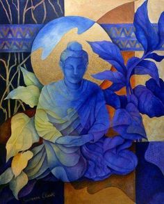 Contemplation by Susanne Clark art buddha Lotus Buddha, Art Buddha, Buddha Kunst, Buddha Painting, Buddha Drawing, Buddha Artwork, Buddha Statues, Gautama Buddha, Buddha Buddhism