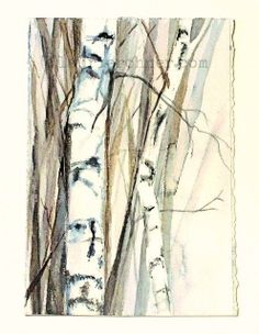 nature art watercolor painting Woodland Birch Trees is an original nature art watercolor painting for Between The Weeds by Laurie Rohner. The illustration allows you to imagine yourself standing on a misty morning of a woodland forest of birch tree landscape in early spring.   Birch trees are an absolute favorite tree of mine, maybe they are yours too.   Title: Birch Trees Medium: Watercolor and gouache on Paper Palette: pink, white, cream, leaf green, raspberry, cobalt blue Paper: Arches…