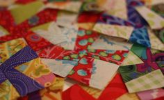 """These blocks are for a tiny quilt that will be donated to my quilting guild for a silent auction. I used the """"A Little Tangy"""" pattern from ..."""