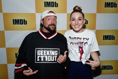 Kevin Smith and Harley Quinn Smith at an event for IMDb at San Diego Comic-Con Harley Quinn Smith, Take The High Road, Postnatal Workout, All In The Family, Bath And Beyond Coupon, Building For Kids, Tv Decor, Healthy Work Snacks, San Diego Comic Con