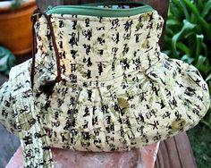 Asian Print Pleated Ziplet Zipper Pouch by ClemmieVs on Etsy #group2020 #womensclutch #handbagpurse