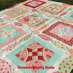 Quick curve ruler quilt pattern by sew kind of wonderful! Longarm quilting