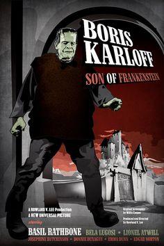 Boris Karloff  Son of Frankenstein 18 x 12 Digital by DadManCult, $12.99