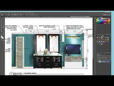 Photoshop Advanced Using Photoshop to Produce a Rendered Interior Elevation Interior Design Renderings, Best Interior Design Websites, Interior Design Software, Interior Rendering, Home Interior Design, Interior Architecture, Interior Decorating, Revit Architecture, Diy Interior