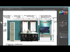 Photoshop Advanced Using Photoshop to Produce a Rendered Interior Elevation - YouTube