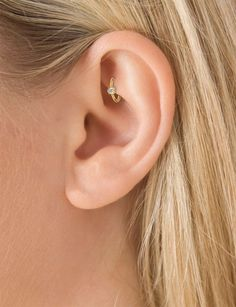 Swarovski Crystal Captive Bead Ring for Tragus, Rook, Daith, Cartilage Ear Piercing Jewelry at MyBodiArt