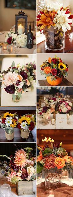 country rustic fall wedding centerpiece ideas #rustic_decor_centerpieces
