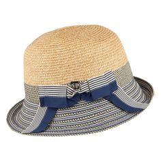 Callanan Hats Braided Straw Cloche - Natural-Navy 6a6ad8fcc883