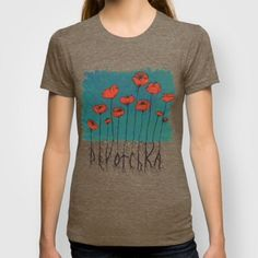 Devotchka Poppy Shirt *NOT AVAILABLE THRU POSH* available in men and women's sizes! Get yours here: http://society6.com/product/devotchka-poppies_t-shirt#11=50&4=135&5=18 Tops Tees - Short Sleeve