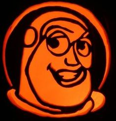 mr buzz lightbeer pumpkin pattern toy story halloween