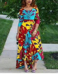 A beautifully shaped dress for an elegant look. Product Information Fabric: Cotton Wash Care: Hand wash separately with a mild detergent. Dress Length: 59 Inches Features * Fully lined * Fitted bodice * Pencil sleeves * Back zipper Dress sizes US African American Fashion, African Print Fashion, African Lace Dresses, African Fashion Dresses, African Attire, African Wear, Trendy Ankara Styles, Ankara Dress, Ankara Gowns