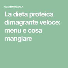 dieta proteica facile e veloce